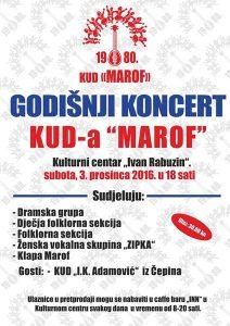 Godišnji koncert (KC Ivan Rabuzin, 3.12.2016.)