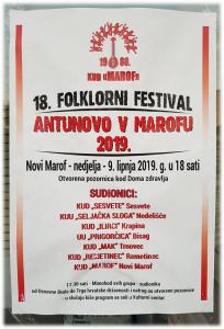 Antunovo v Marofu (otvorena pozornica Doma zdravlja)